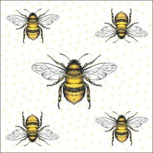 20 Paper Party Napkins Bees Honey Bees Pack of 20 3 Ply Serviettes Insects