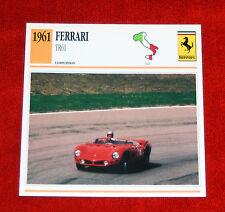 1960-63 Ferrari Testa Rossa 61 Shark Nose - Edito-Service, SA collector card
