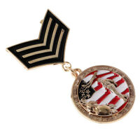 Unisex Military Uniform Metal Brooch Pin Medal Badge Suit Tuxedo Party Props