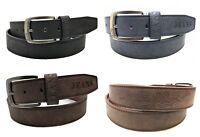 Herren Western Style Adler Jeans 4 cm breit Stylischer Design Ledergürtel - J410