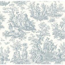 WALLPAPER BY THE YARD WA7830 Blue Country Life Toile by Waverly