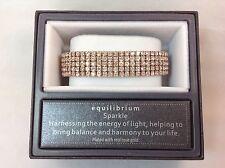 Equilibrium Rose Gold Plated 5 Row Clear Diamanté Stretch Bracelet - 69070