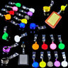 LOT Retractable Reel Recoil ID Badge Lanyard Name Tag Key Card Holder Belt Clip