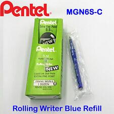 Pentel ROLLING WRITER MGN6S-C Blue ink pen 0.6 mm refill Cartridge
