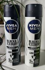 2 x Nivea Deospray Men -  Black & White Antitranspirant  48 Std