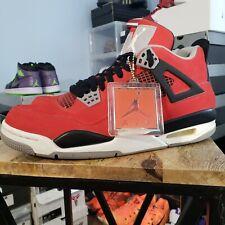 "Air Jordan 4 ""Toro Bravo"" sz 9.5 - fire red/white-black-cmnt grey 308497 603"