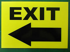 Event Signage - Exit with Arrow pointing LEFT- Direction signs (24-23)