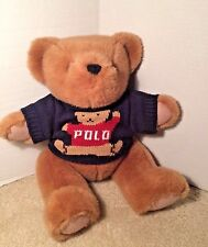 Ralph Lauren Polo Plush Jointed Teddy Bear with Sweater 1997 15""