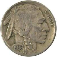 1936 D Indian Head Buffalo Nickel 5 Cent Piece VF Very Fine 5c US Coin