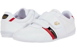 LACOSTE Misano Strap 0120 1 Men's Casual Leather Loafer Shoes Sneakers Navy Wht