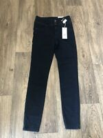 M&S High Waisted Skinny Jeans Darb Blue Wash Uk 10 29L Soft Stretchy Denim New