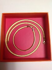14k Solid Yellow Gold Set Necklace Chain & Bracelet
