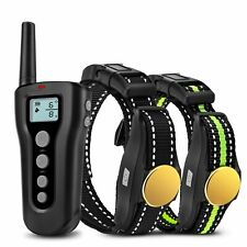 Dog Training Collar 2 Dogs 1000ft Remote Rechargeable Waterproof Electric Shock