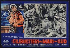 FOTOBUSTA, I FILIBUSTIERI DEI MARI DEL SUD Hell Ship Mutiny PETER LORRE POSTER