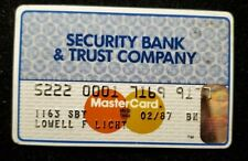 Security Bank & Trust Co. MasterCard Card Exp 1987 ♡Free Shipping♡cc230♡
