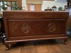 Vintage Carved Chinese Chest Camphor Lined