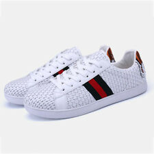 Stylish Weave Skate Shoes For Couples - White (SPJ050852)