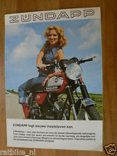 037 VINTAGE ZÜNDAPP BROCHURE 1977 KS50,GTS50,CS50 DUTCH 4 PAGES