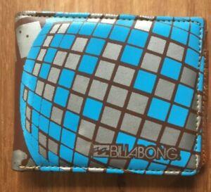 Billabong retro unisex surf blue brown vinyl folding wallet Y2K 2000's