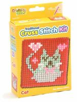 Kids Traditional Cross Stitch Kit For Kids Tapestry Sewing Craft Set ~ Cat