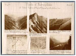 Effects of Running Water and Waterhering  Vintage print. 5 photos 4 x 6 cm; 1 ph