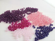 Swarovski 5000 round 4mm beads WHOLESALE LOT 600 mixed Pink/ Purple barg68