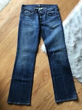 EUC 7 for all Mankind Bootcut Womens Jeans Sz 29 Embellished Rhinestone Pockets