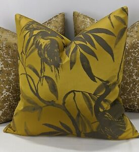 "Handmade Cushion Cover John Lewis Otori Weave Gold 18""x18"""
