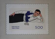 """FLOC'H : INTERNATIONAL KLEIN's BLUE"" Sérigraphie originale entoilée 1987"