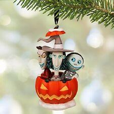 LOCK+SHOCK+BARREL~Pumpkin~NIGHTMARE BEFORE CHRISTMAS~ORNAMENT~NWT~Disney Store