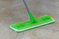 Laminate Floor Mop with Washable Microfibre Cleaning Pad Tile Wood Kitchen