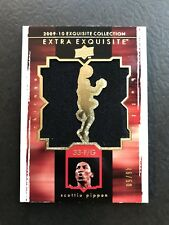 2009-10 Scottie Pippen UD Exquisite Extra Jersey Card Game-Used Jumbo Patch /50!