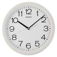 Seiko QXA693W Round Wall Clock Battery Powered Cream Plastic with White Case