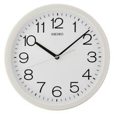 Seiko QXA693W Round Wall Clock Battery Powered Cream Plastic with White Case