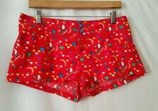 Polyester Machine Washable Multi-Colored Shorts for Women