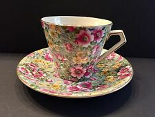 VINTAGE TEACUP AND SAUCER CHINTZ LORD NELSON - BRIAR ROSE