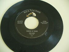 "HANK SNOW ""OH WONDERFUL WORLD & CARNIVAL OF VENICE""  45RPM 7 "" RCA"
