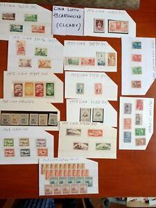 CINA francobolli LOTTO 13 cartoncini MNH**-MNH Ling--USATI.(CLCAB1)