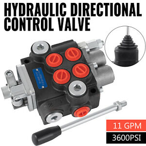 Hydraulic Directional Control Valve Tractor Loader w/ Joystick, 2 Spool, 11 GPM