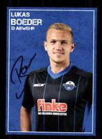 Lukas Boeder Autogrammkarte SC Paderborn 2017-18 Original Signiert+A 170485