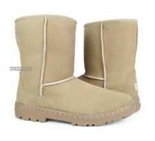 UGG Ultra Short Revival Sand Suede Fur Boots Womens Size 7 *NEW*