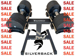 PAIR 2x 32KG Adjustable Dumbbells +STAND 🎅 Xmas Christmas GIFT FOR HIM Home Gym