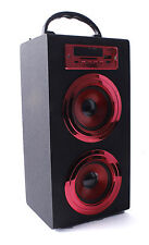ALTAVOZ PORTATIL TORRE CAJA Bluetooth USB Radio FM SD/TF MP3 Inalambrico Rojo