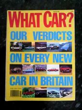 November What Car? Cars, 1980s Transportation Magazines
