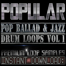 Pop Ballad Soul Drum Sounds Wav Loop Samples Akai Reason Fl Studio Logic drums