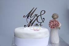 Silver acrylic mirror Mr & Mrs cake topper