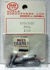 """SS Ltd~O-Scale/1:48 Figure Kit~650-3403~""""PHIL""""~White Metal~Shoveling"""