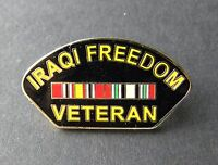 US USA IRAQI FREEDOM VETERAN RIBBON LAPEL PIN BADGE 1.1 INCHES