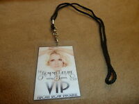 BRITNEY SPEARS FEMME FATALE TOUR FRONT ROW MEET GREET VIP PACKAGE PASS & LANYARD