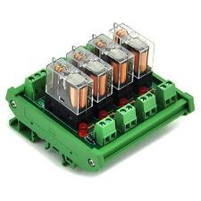 DIN Rail Mount 4 SPDT 16A Power Relay Interface Module,OMRON G2R-1-E DC24V, D